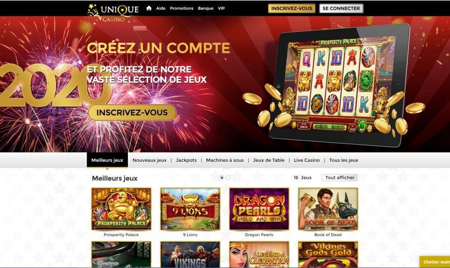 Avis casino Unique : que propose ce casino ?